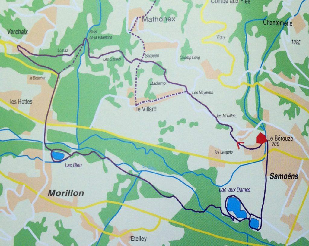 Itinéraires randonnée haute-savoie 74 - le bérouze - verchaix - morillon