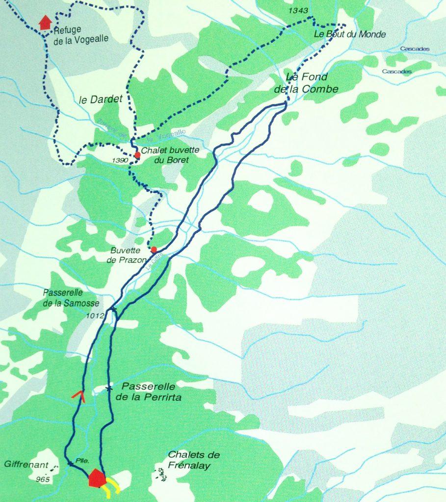 itineraire randonnee haute-savoie 74 - cirque du fer à cheval - fond de la combe